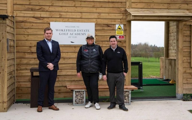 8 Driving bays with floodlights, netted bay dividers and ball machine store, plus 7 amazing outdoor artificial areas supplied form SouthWest Greens. It was amazing to have this brilliant new facility to be opened by Dame Laura Davies.